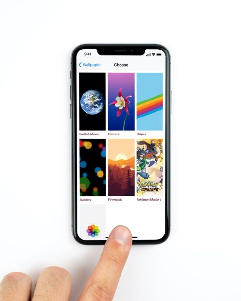 Apple iOS 14 Third-Party Wallpapers Mockup